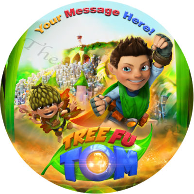 tree fu tom edible cake image birthday fondant cake