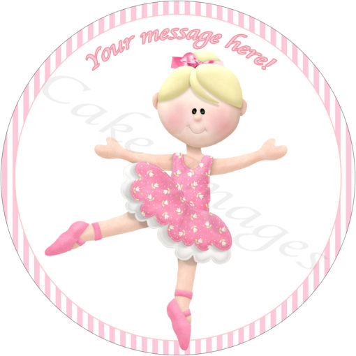 ballerina tutu birthday party cake edible image