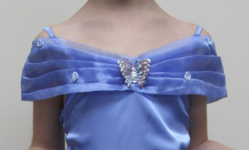 princess cinderella party dress detail