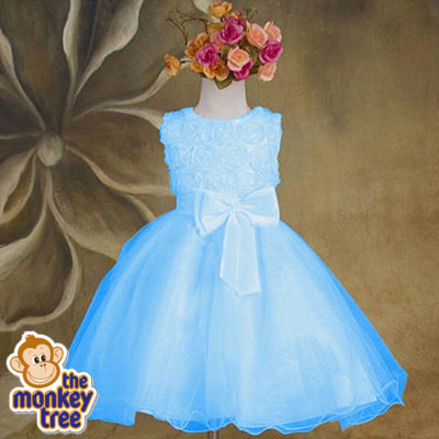 blue ruffle dress princess party