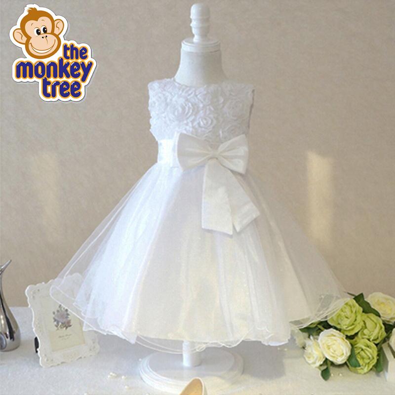dress rosette flower girl princess fairy wedding