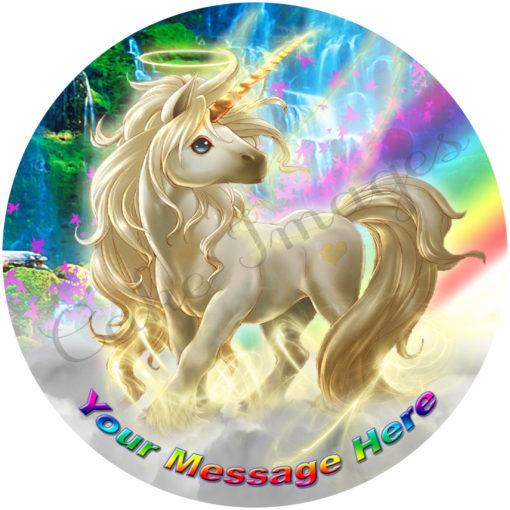 white unicorn fairy magic party birthday cake pegasus