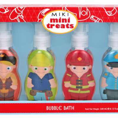 Miki boys bubble bath fireman police cowboy