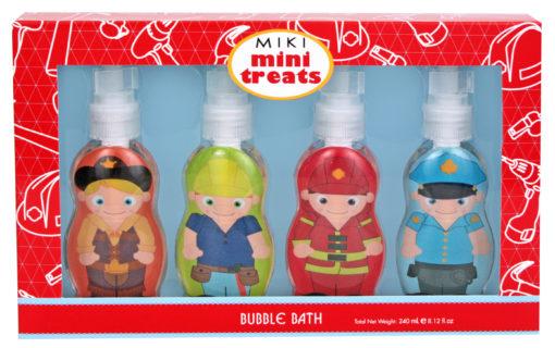 Miki boys bubble bath fireman police cowboy
