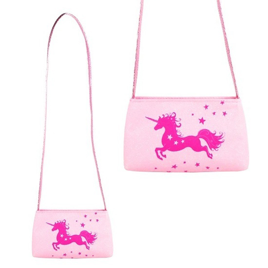 unicorn shoulder bag pink glitter