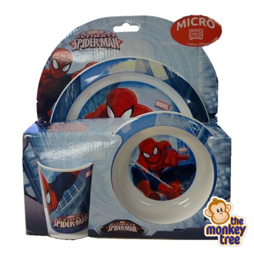 spiderman dinner set melamine