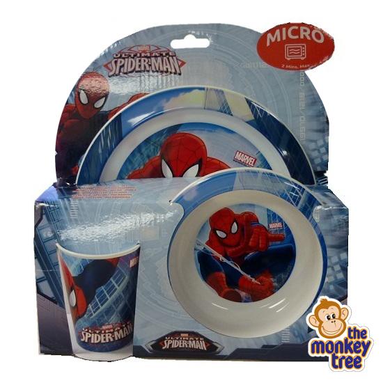 spiderman dinner set melamine