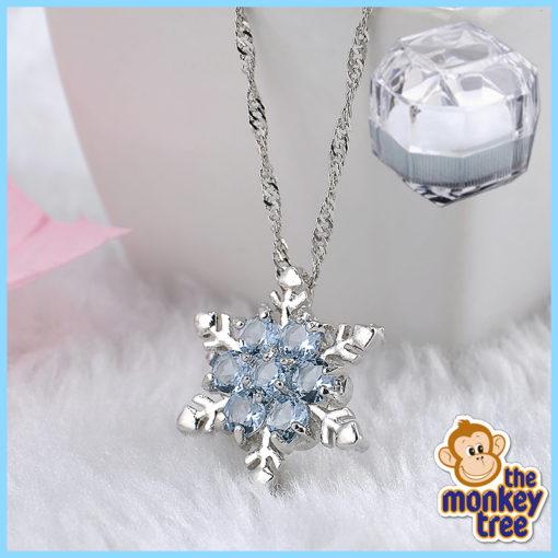 frozen snowflake necklace