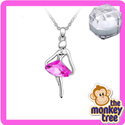 pendant crystal cancer pink
