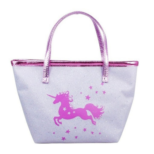 purple glitter handbag unicorn