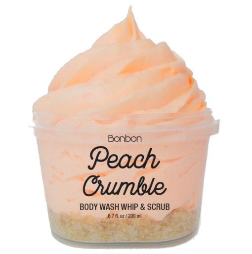 bon bon peach crumble body wash