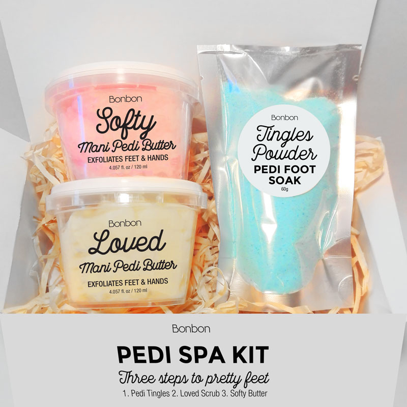 bonbon pedicure gift set foot soak