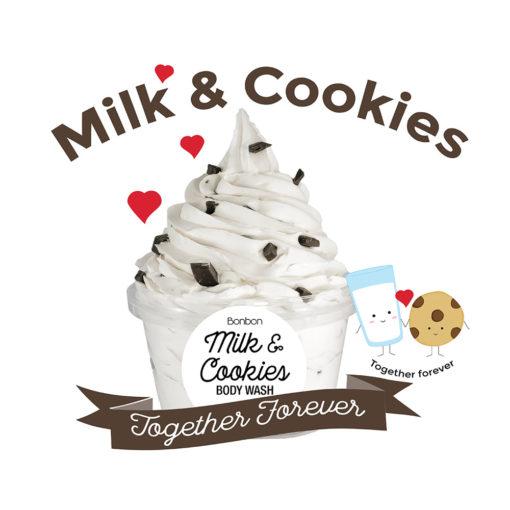bonbon milk cookies body wash chocolate