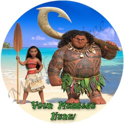 moana edible image cake birthday party