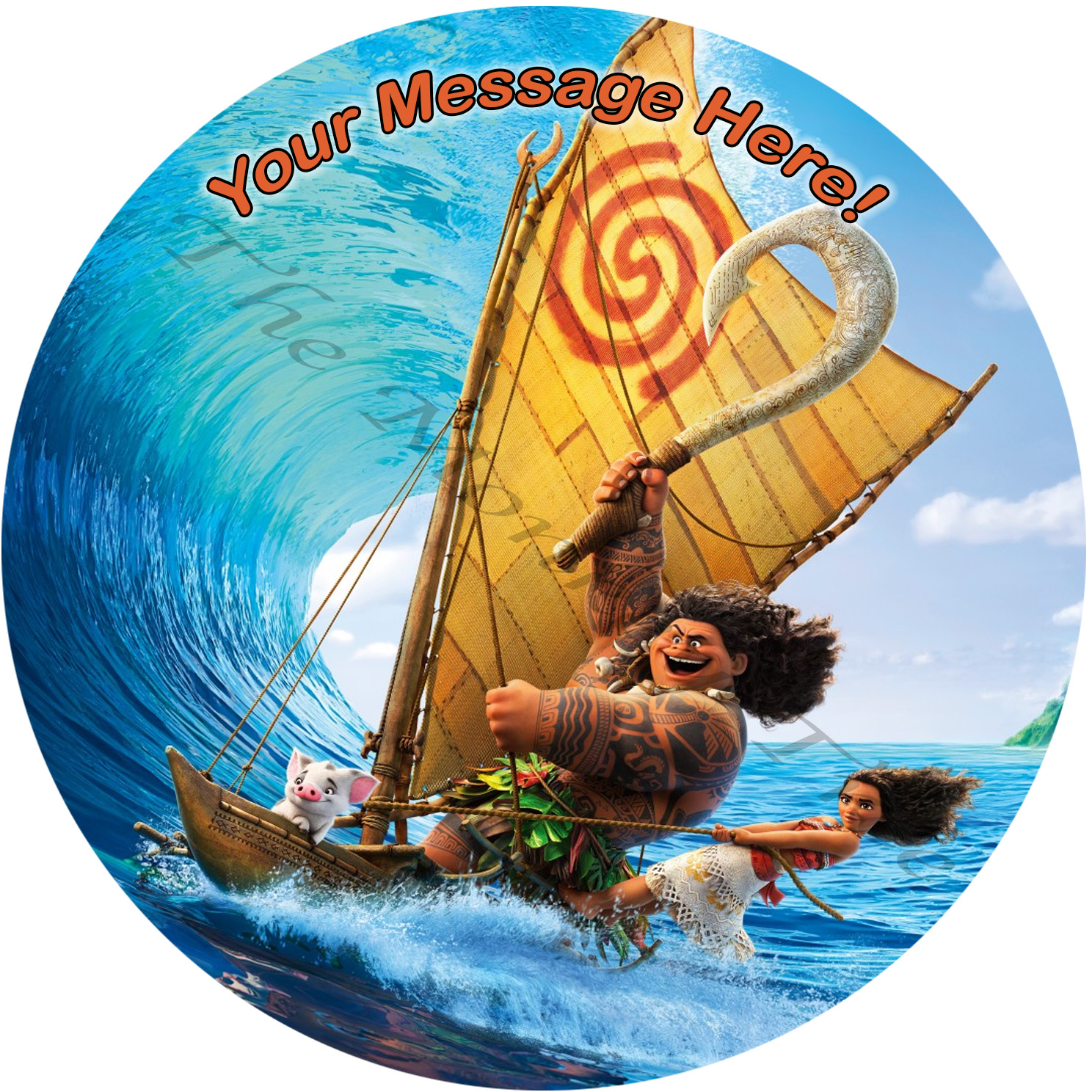moana edible image cake birthday party topper