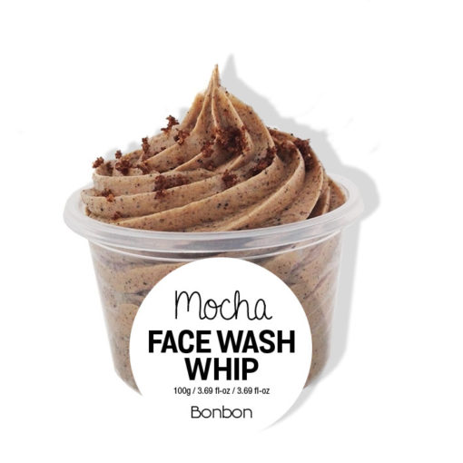 bonbon mocha face wash whip