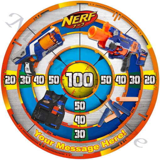 nerd gun edible image laser tag party birthday