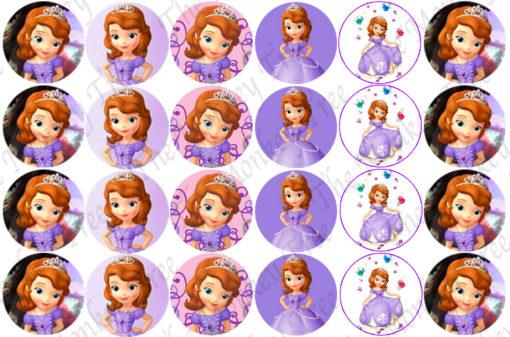 sofia 1st princess cupcake edible image