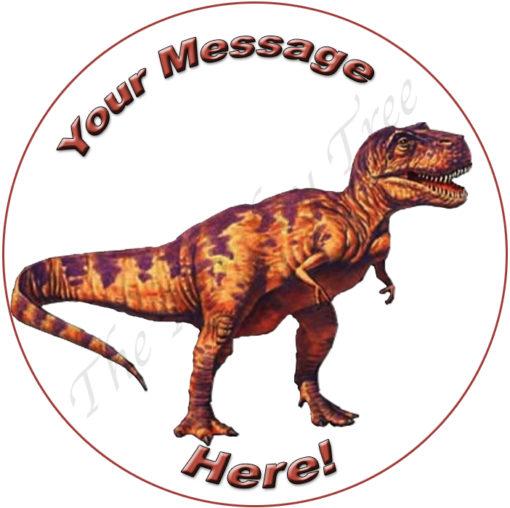 t rex dinosaur edible cake image fondant jurassic