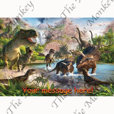 dinosaur edible cake image party birthday