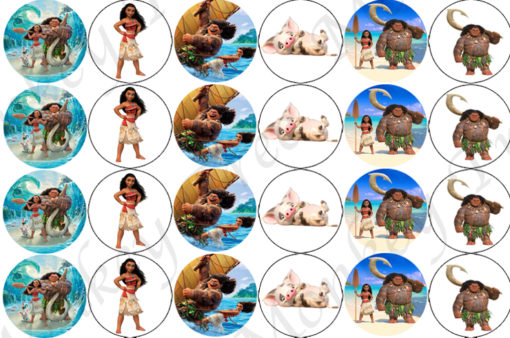 moana cupcake edible cake image birthday party