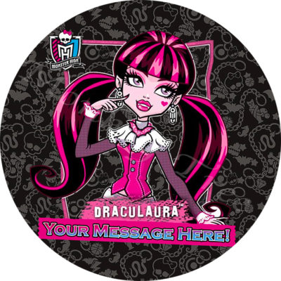 draculaura monster high music disco edible image fondant cake