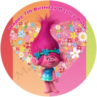 trolls poppy birthday cake party edible image fondant
