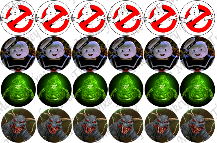 Ghostbusters Edible Cupcake Images Set Of 24 The