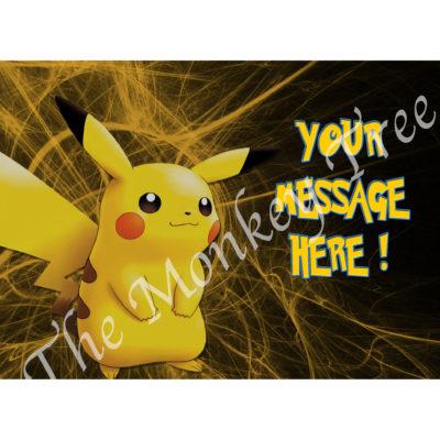 Pokemon go edible cake image pikachu fondant birthday cake