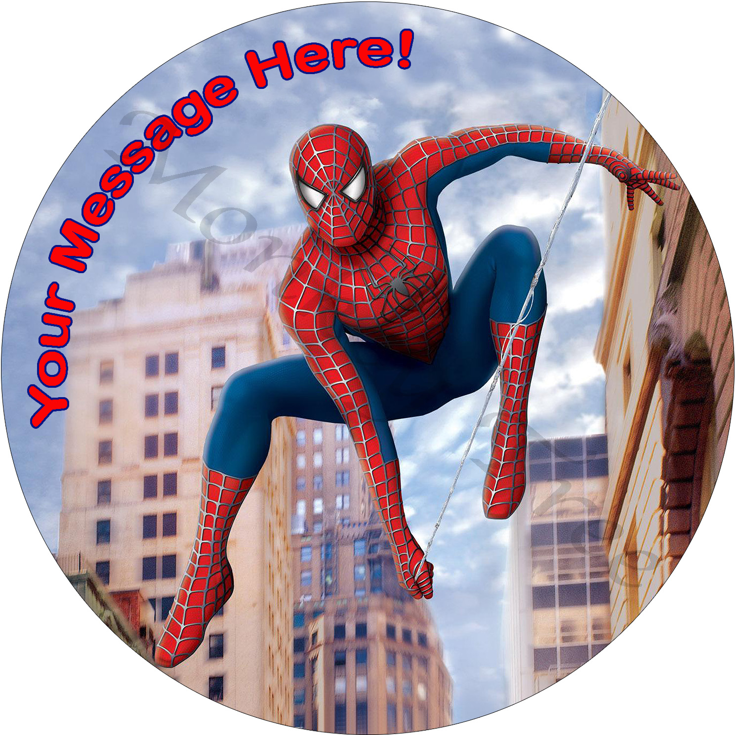 spiderman edible cake fondant icing image party superhero
