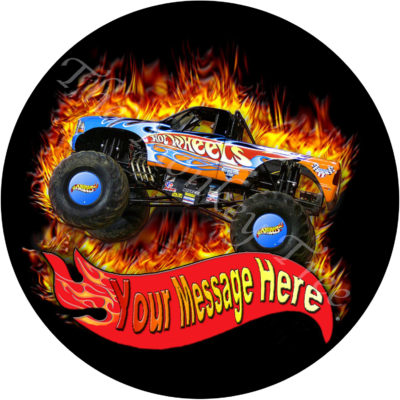 hot wheels edible cake image photo cars birthday party monster truck