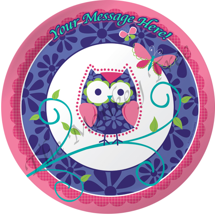 cute owl edible cake image Auckland birthday party cake