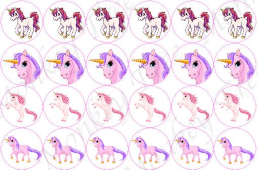 edible image fondant cake topper unicorn rainbow fairy magic