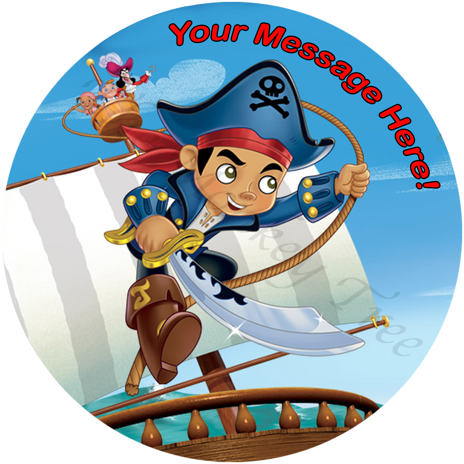Captain Jake Amp The Neverland Pirates Edible Cake Image