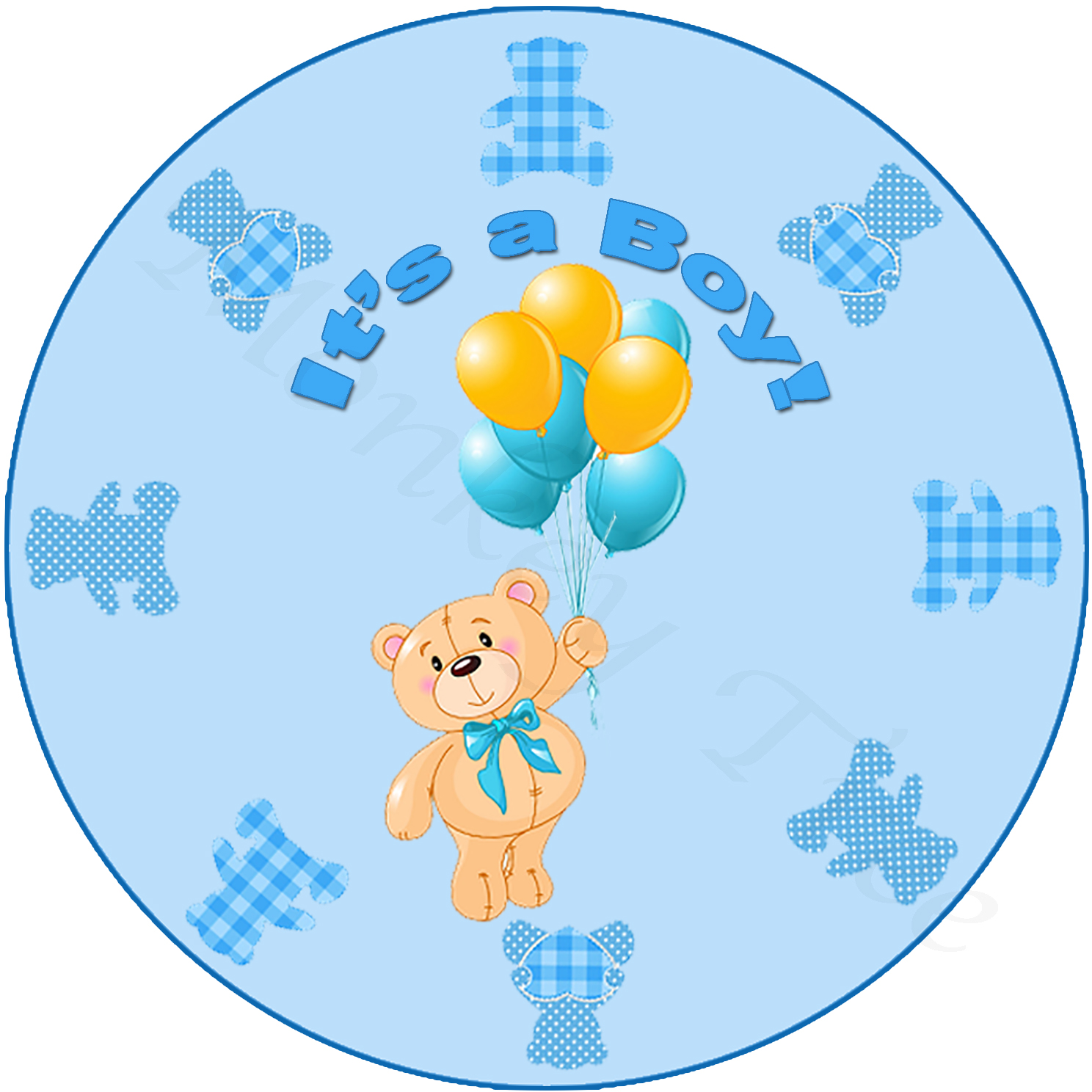 baby shower party birthday 1st cake edible topper