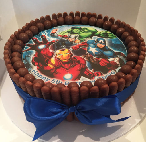 chocolate cake edible image maltesers mud cake ganache birthday party