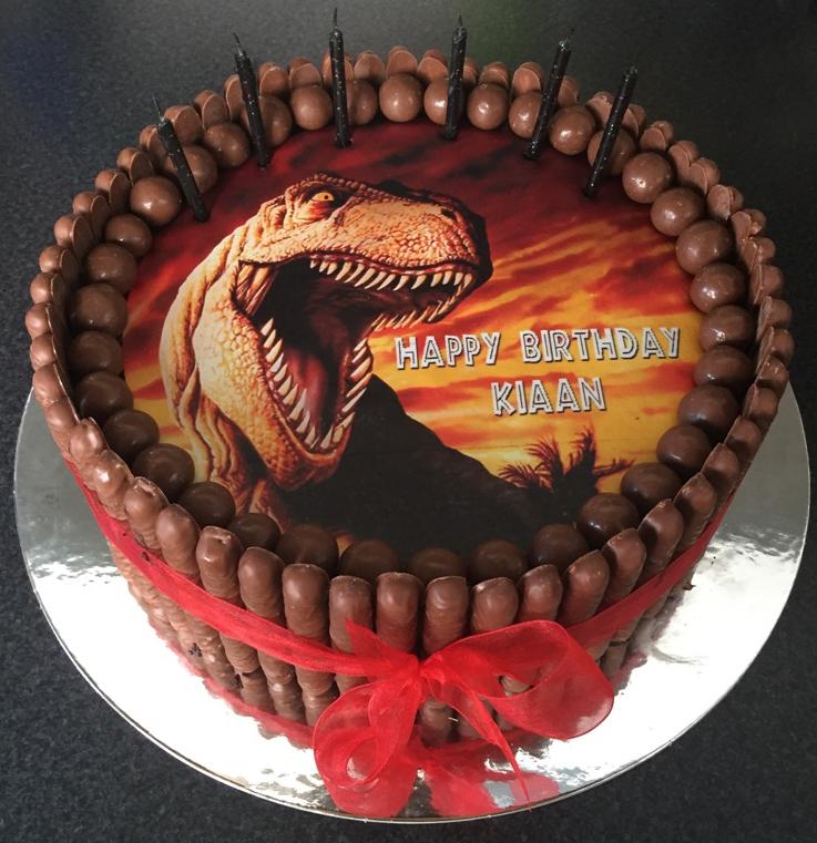 chocolate cake edible image maltesers mud cake ganache birthday party