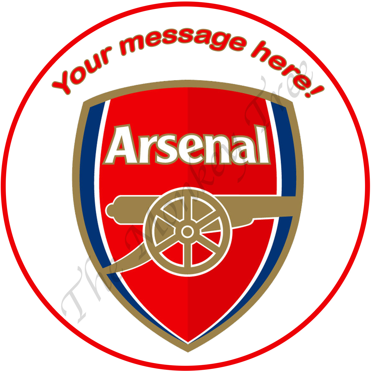 arsenal football soccer edible image topper cake birthday party
