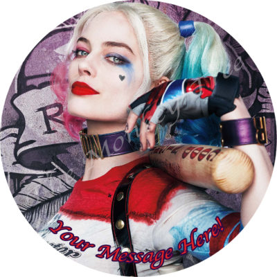 harley quinn superhero suicide squad edible cake image topper birthday cake party