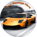 Lamborghini Huracan edible cake image topper birthday cars