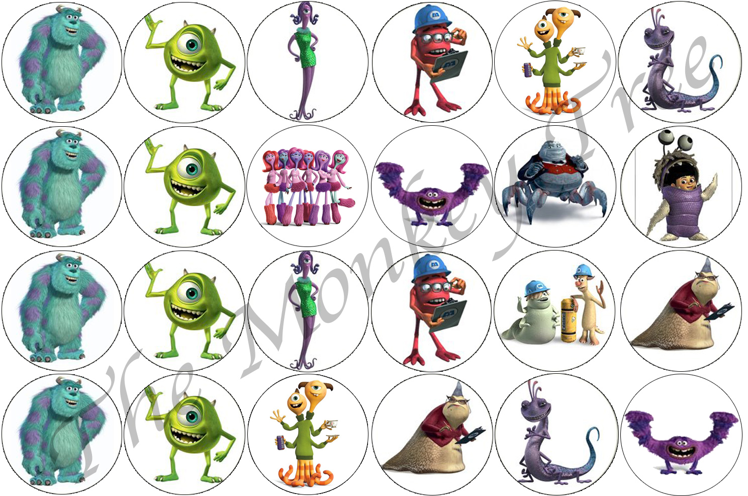 Monsters Inc Edible Cake Topper