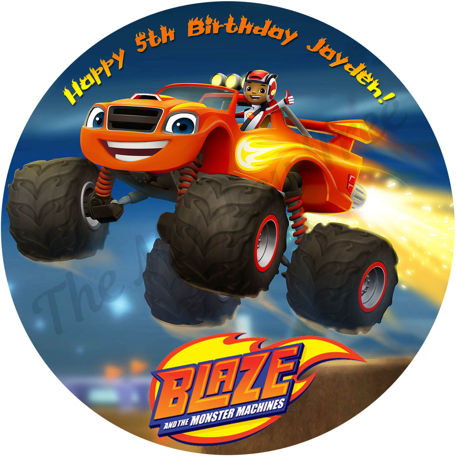 blaze and the monster machines edible cake image birthday party