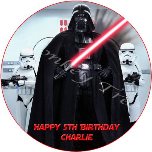 Star Wars darth vader kylo ren stormtrooper edible cake image topper birthday party