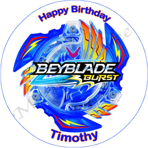 beyblade burst edible cake image topper party birthday