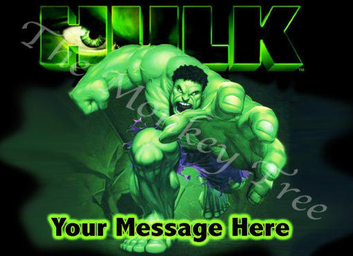 hulk edible image avengers cake topper fondant superhero birthday party