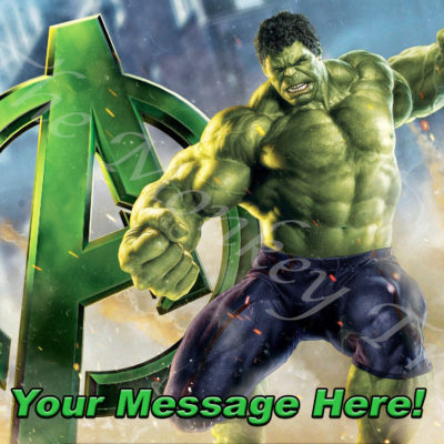 hulk edible image avengers cake topper fondant superhero birthday party