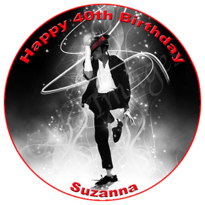 Michael Jackson edible cake image topper birthday party disco