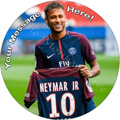 Neymar football soccer Barcelona fc edible cake image topper birthday sport