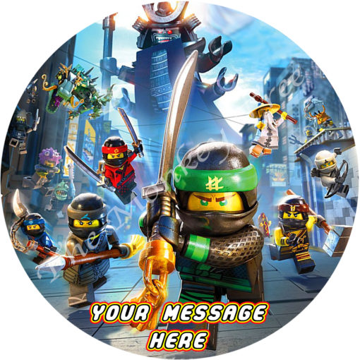 lego ninjago movie edible cake topper birthday party Auckland