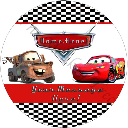 cars mcqueen and tow mater edible cake image topper birthday cars Disney